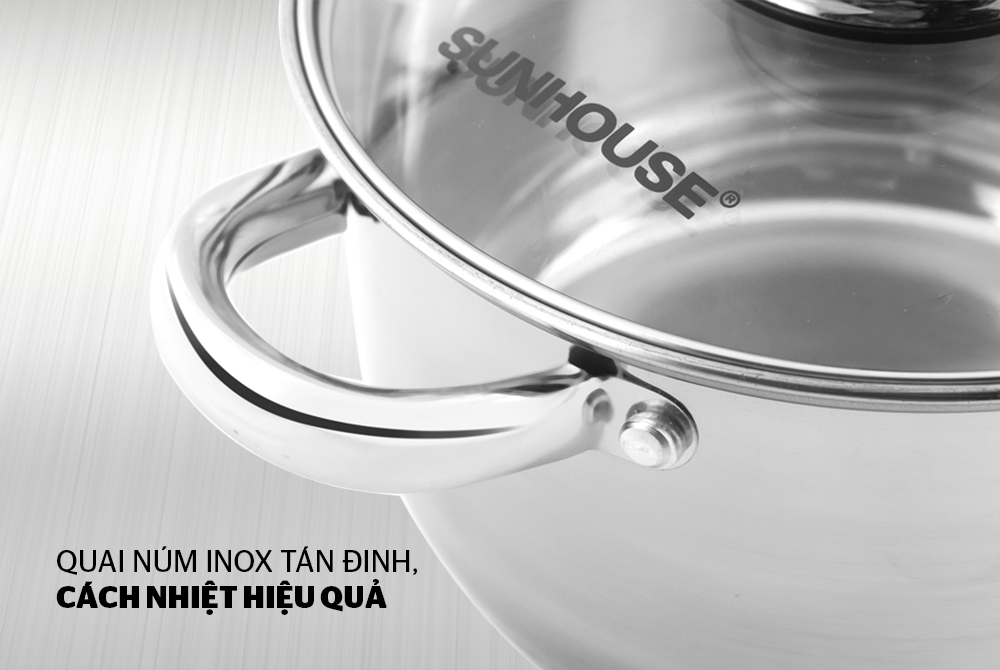 Nồi inox 3 đáy SUNHOUSE SH22120 004