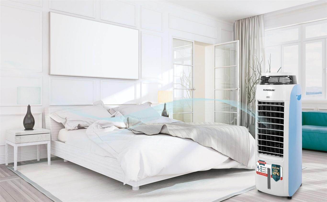 5 lưu ý phải biết để sử dụng quạt điều hòa tiết kiệm điện hiệu quả nhất 2020 3