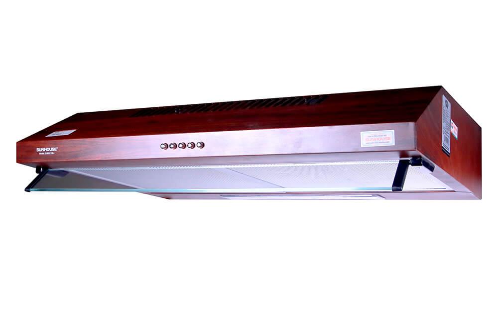 Máy hút mùi vỏ sơn vân gỗ SUNHOUSE SHB6118W 001
