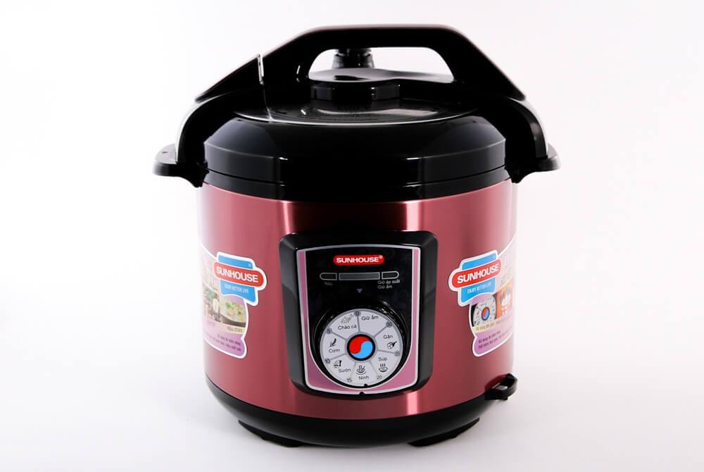 Nồi áp suất điện đa năng SUNHOUSE SHD1755 đỏ 001