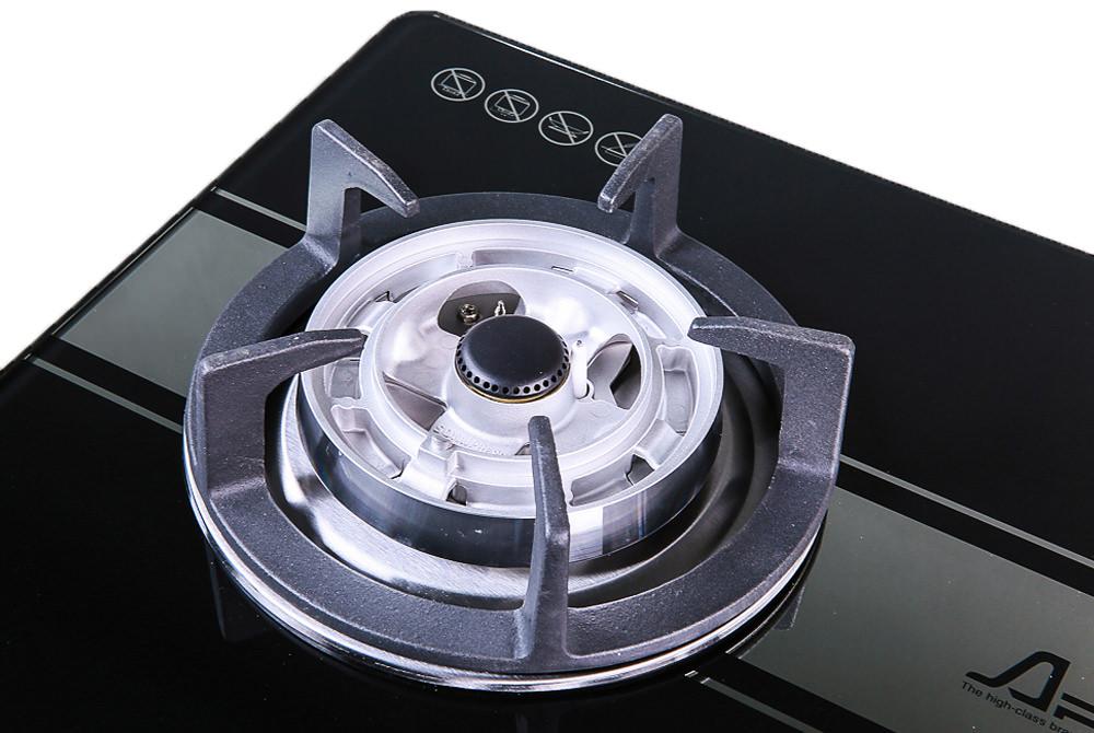Bếp gas SUNHOUSE âm kính SOMIPress 2 lò cao cấp Apex APB8801 004
