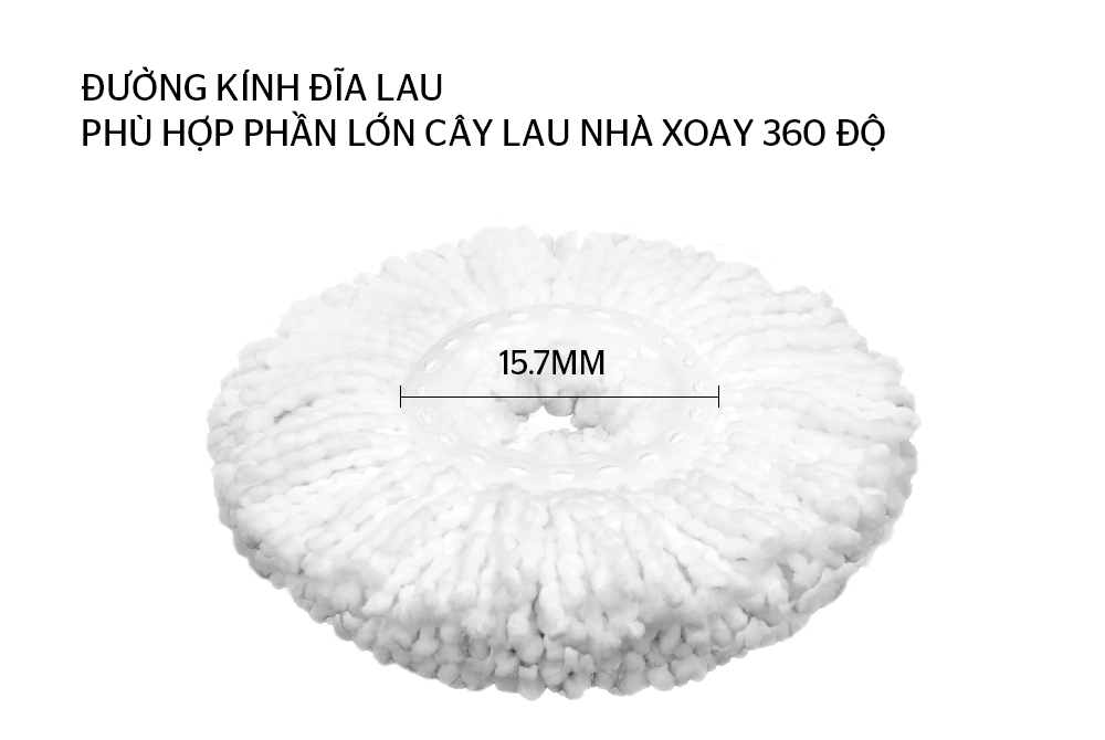 BÔNG LAU NHÀ MICROFIBER XOAY 360 ĐỘ SUNHOUSE KS-CO350M 2