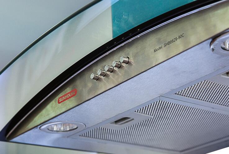 Máy hút mùi kính cong SUNHOUSE SHB6629-70C 002