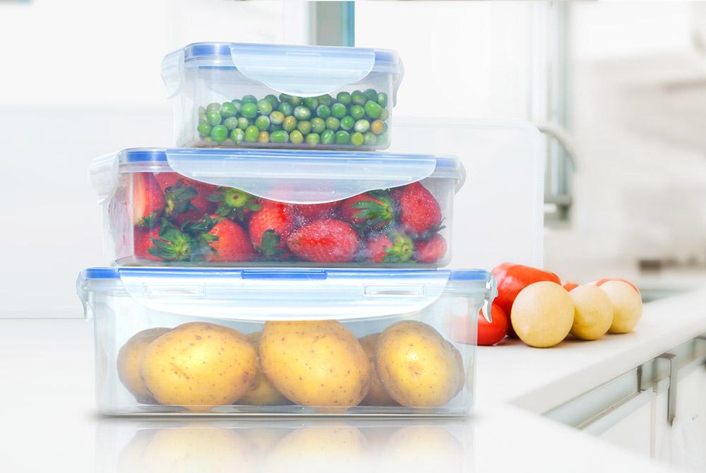 Bộ 3 hộp bảo quản thực phẩm ngăn mát BioZone Space Saving KB-CO3P02 01