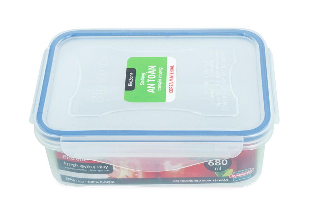 Bộ 3 hộp bảo quản thực phẩm ngăn mát BioZone Space Saving KB-CO3P02 03