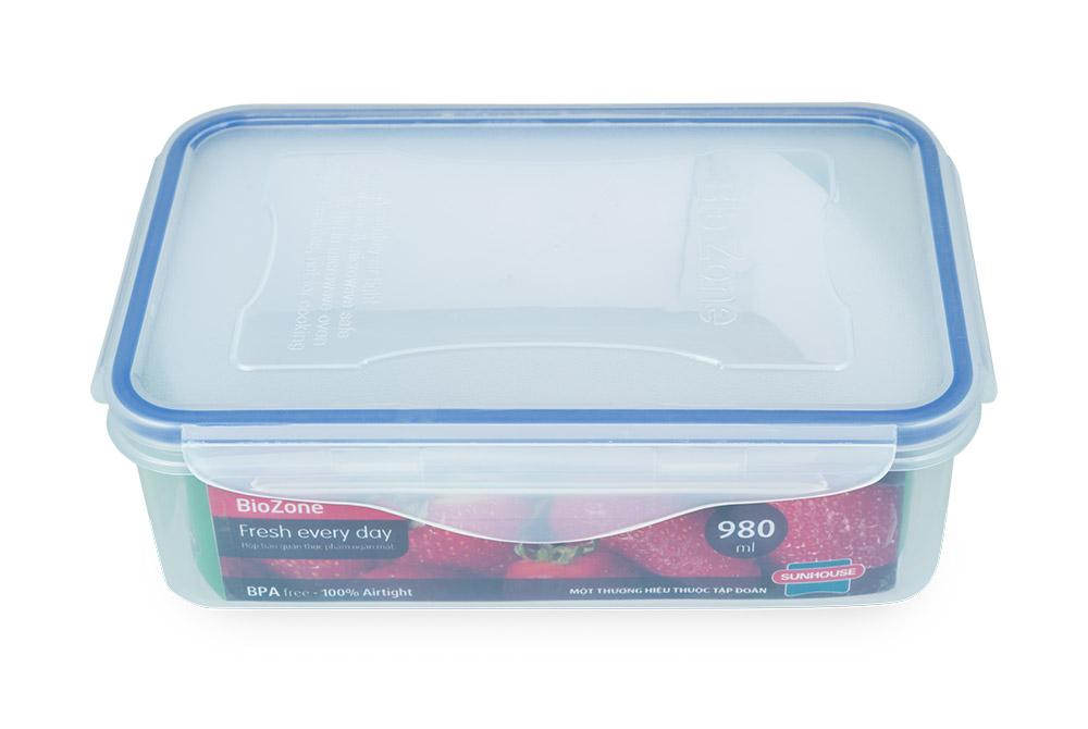 Bộ 3 hộp bảo quản thực phẩm ngăn mát BioZone Space Saving KB-CO3P02 05