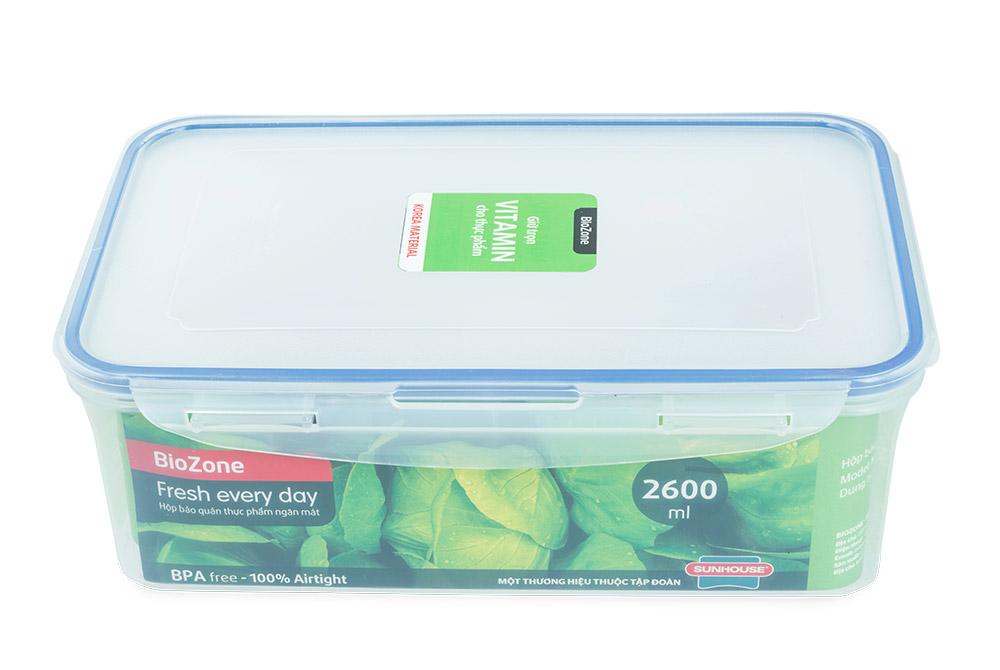 Bộ 3 hộp bảo quản thực phẩm ngăn mát BioZone Space Saving KB-CO3P02 04