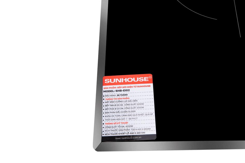 Bếp đôi điện từ hồng ngoại SUNHOUSE SHB EI02 006