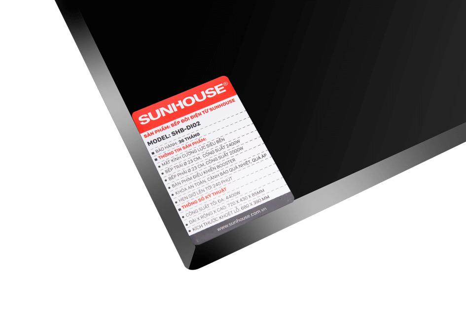 Bếp đôi điện từ SUNHOUSE SHB DI02 006