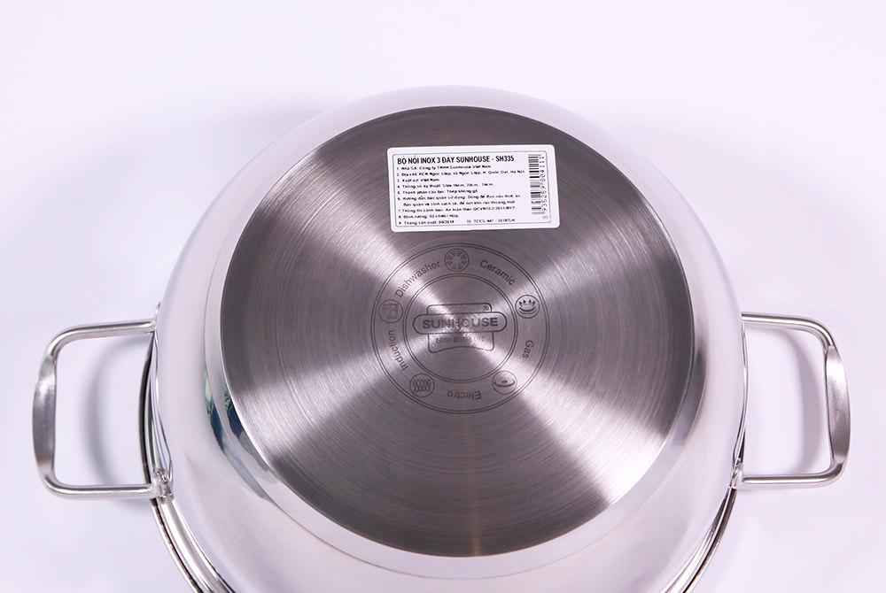 Bộ nồi inox 3 đáy SUNHOUSE SH335 006