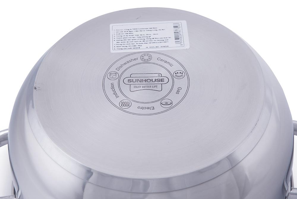 Bộ nồi Inox 3 đáy SUNHOUSE SHG2303MRA 005