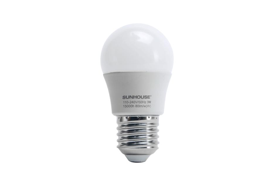 Bộ đèn LED thân nhôm SHE-LEDA45AL-A3W (trắng) 001