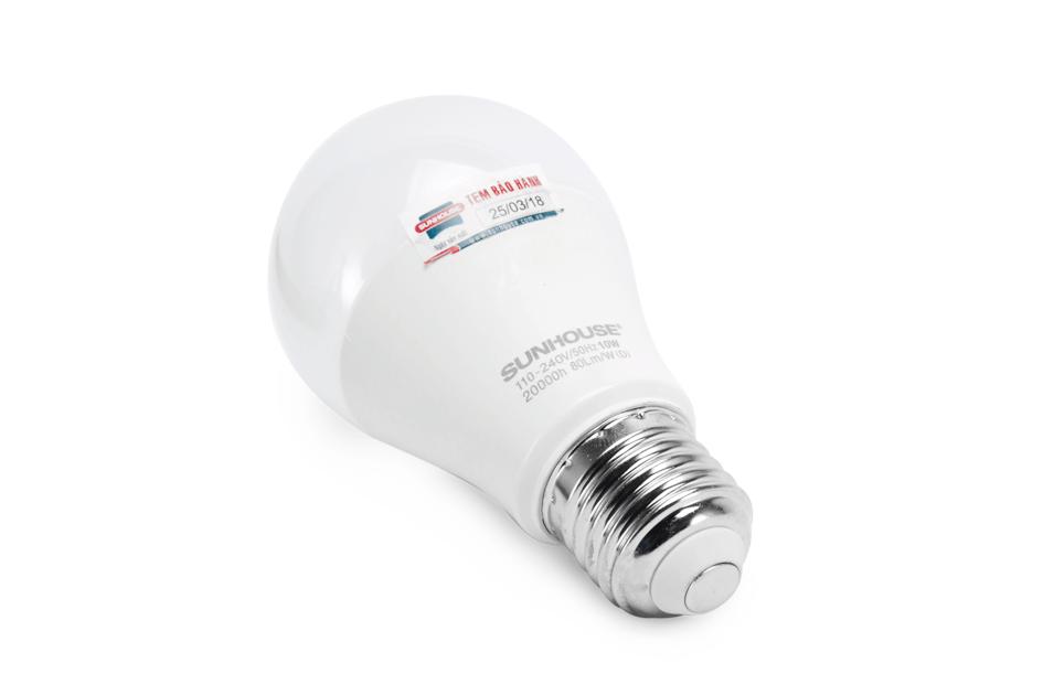 Bộ đèn LED thân nhôm SHE-LEDA60AL-A10W (trắng) 002