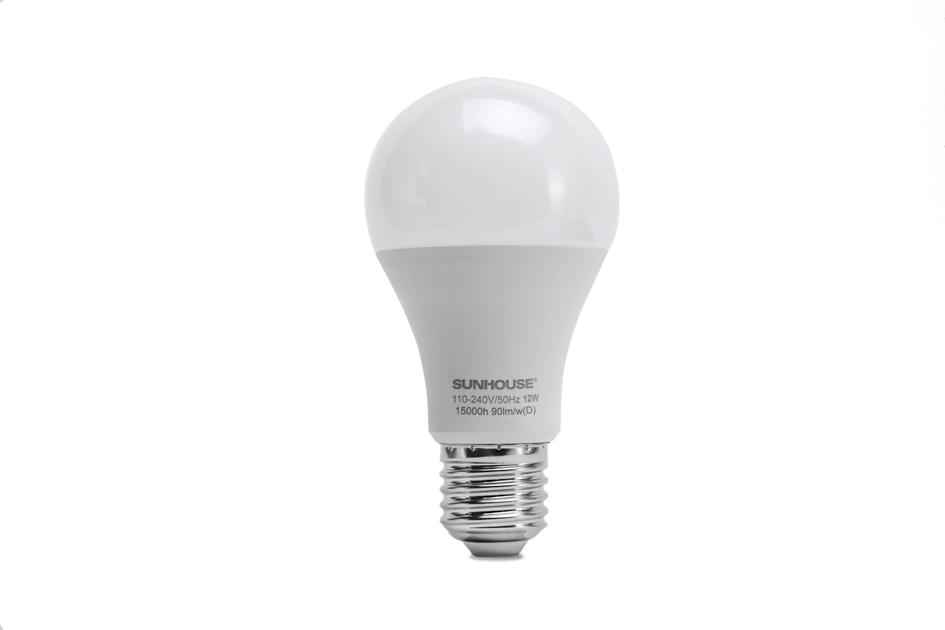 Bộ đèn LED thân nhôm SHE-LEDA60AL-A12W (trắng) 001