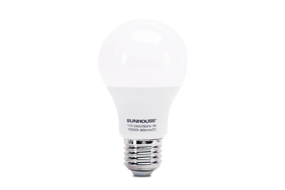 Bộ đèn LED thân nhôm SHE-LEDA60AL-A6W (trắng) 001