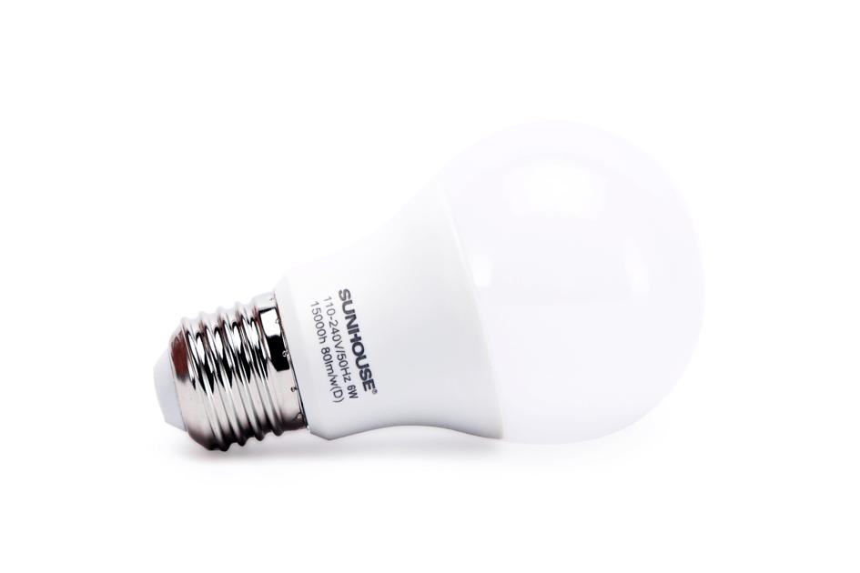 Bộ đèn LED thân nhôm SHE-LEDA60AL-A6W (trắng) 002