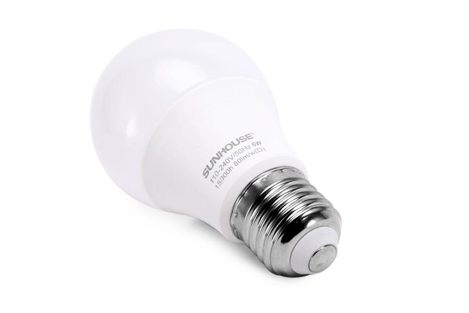 Bộ đèn LED thân nhôm SHE-LEDA60AL-A6W (trắng) 003