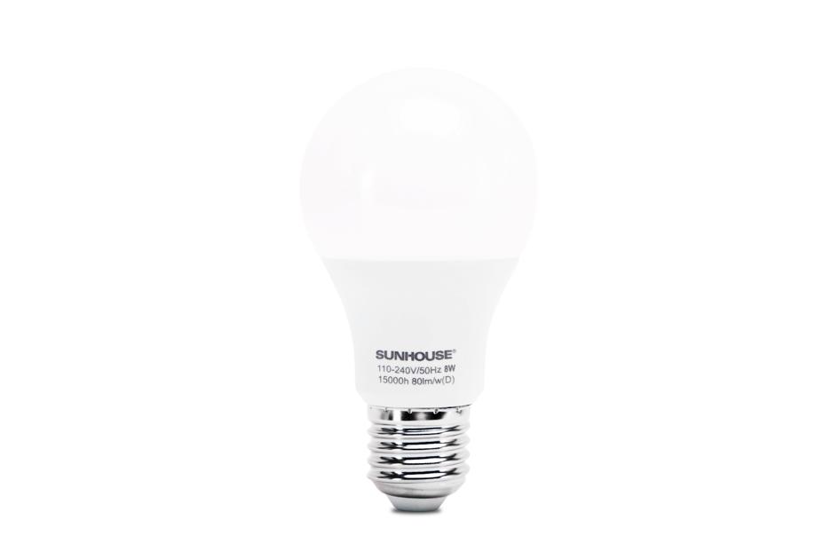 Bộ đèn LED thân nhôm SHE-LEDA60AL-A8W (trắng) 001