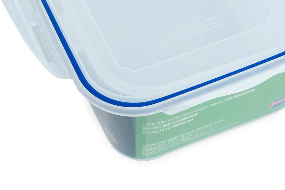 Hộp bảo quản thực phẩm ngăn mát BioZone 4500ml KB-CO4500P 004