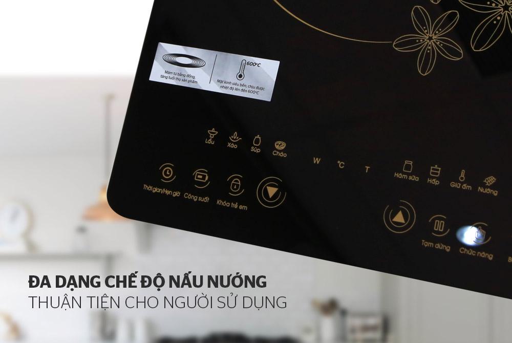 Bếp điện từ cảm ứng SUNHOUSE SHD6800 05