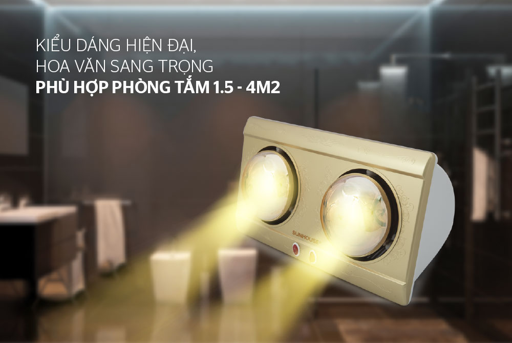 Đèn sưởi phòng tắm SUNHOUSE SHD3812 01