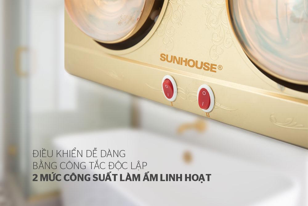 Đèn sưởi phòng tắm SUNHOUSE SHD3812 02