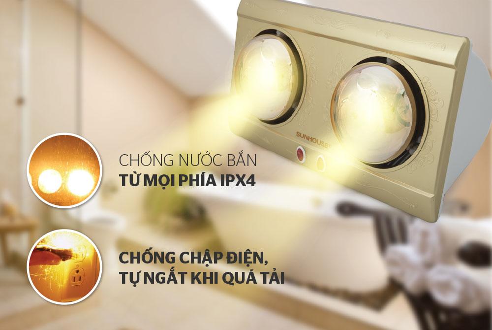 Đèn sưởi phòng tắm SUNHOUSE SHD3812 04