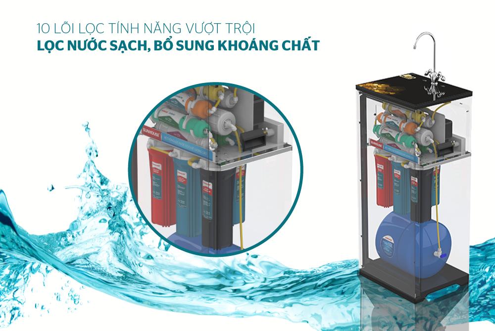 Máy lọc nước R.O 10 lõi SUNHOUSE SHA88118K 2
