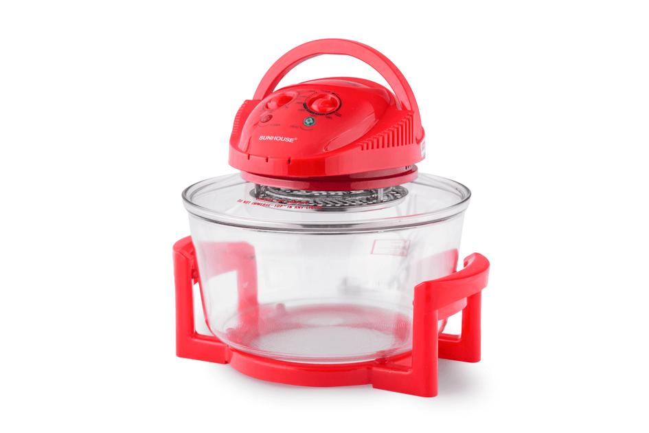 Lò nướng thủy tinh SUNHOUSE SH410 đỏ 1