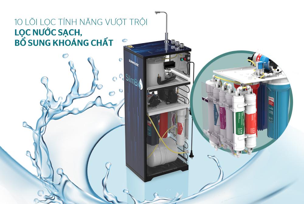 Máy lọc nước R.O 10 lõi SUNHOUSE SHA76213CK 5