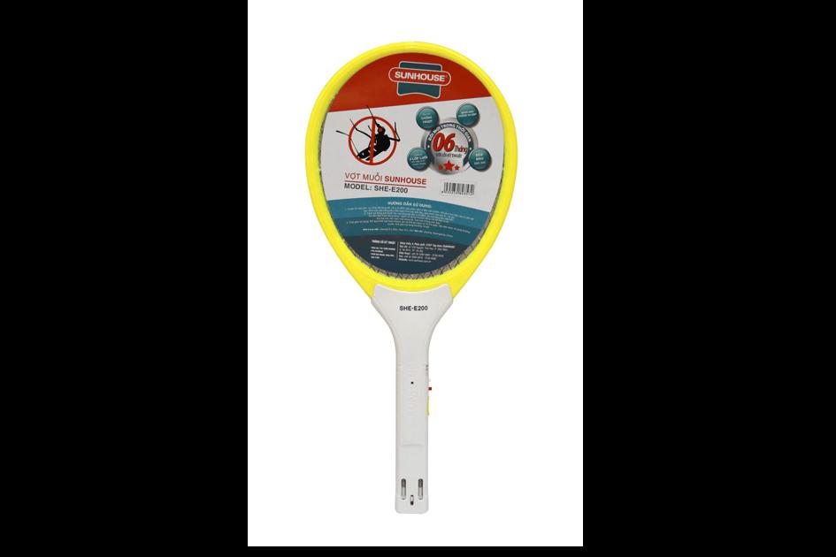 Vợt muỗi SUNHOUSE SHE-E200 màu vàng 001